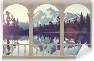 Fototapeta samoprzylepna Taras - Jezioro