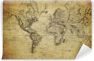 Fototapeta samoprzylepna Vintage, mapa świata 1814 ..