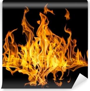 Fototapeta samoprzylepna Wiele żółty pożaru iskry na czarnym