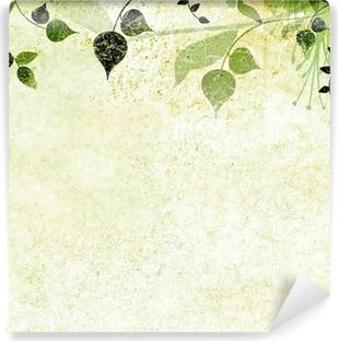 Fototapeta samoprzylepna Zielone liście, charakter tła