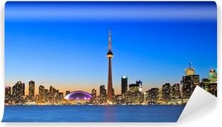 Vinylová Fototapeta Scéna Toronto Skyline od Central Island
