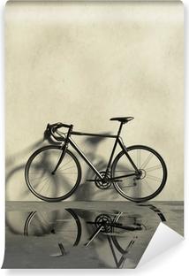 Vinylová Fototapeta Silniční jízdní kolo v výstřední, mokré a prašné místo
