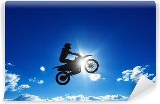 Vinylová Fototapeta Skákání motocyklu jezdec