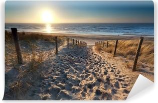 Vinylová Fototapeta Slunce nad cestou na pláž v severní moře