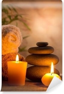 Fototapeta winylowa Spa martwa natura z aromatycznych świec