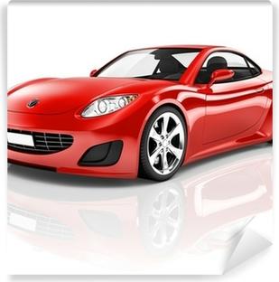 Fototapeta winylowa Sport samochodowy czerwony 3D