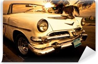 Vinylová Fototapeta Stará americká auta na Kubě