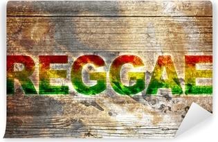 Vinylová Fototapeta Stará dřevěná deska - Reggae nápisy