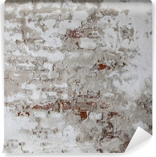 Vinylová Fototapeta Staré červené cihlové zdi s beton s trhlinami