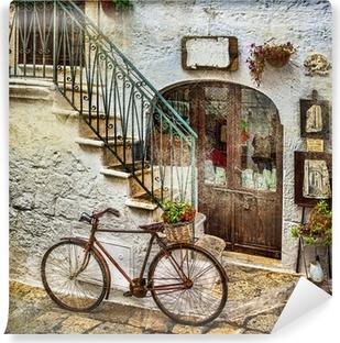 Vinylová Fototapeta Staré ulice Itálie, umělecké vintage picture