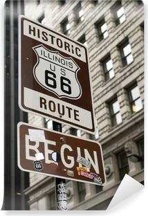Vinylová Fototapeta Start Route 66, Chicago