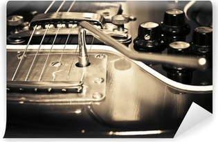 Vinylová Fototapeta Starý kytara
