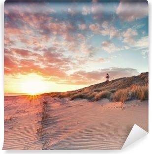 Vinylová Fototapeta Strand und Dünenlandschaft am Sylter Ellenbogen