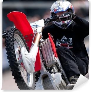 Vinylová Fototapeta Stunt Rider tahání wheelie