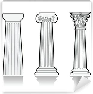 Fototapeta winylowa Stylizowane greckie kolumny