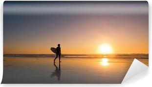 Vinylová Fototapeta Sunset Surfer