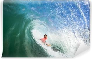 Vinylová Fototapeta Surfování Bodyboarder Inside Hollow Wave