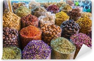 Vinylová Fototapeta Sušené byliny květiny koření na koření Souq v Deira