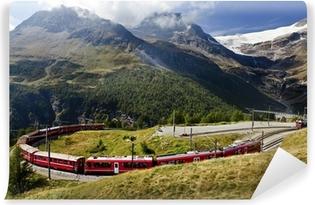 Vinylová Fototapeta Švýcarsko železniční
