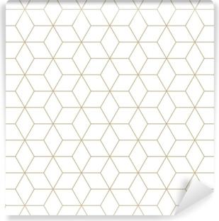 Fototapeta winylowa Świętej geometrii siatki graficzny deco sześciokąta wzór