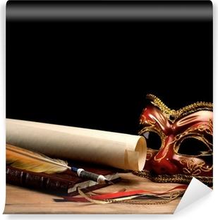 Fototapeta winylowa Sztuka życia nadal na starym drewnianym biurku