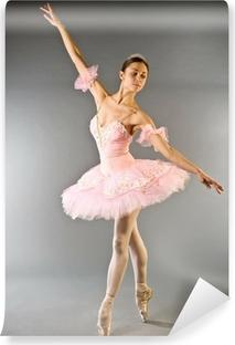 Fototapeta winylowa Taniec baleriny na palec wyizolowanych