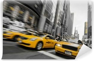 Vinylová Fototapeta Taxis selektivní barva - New York, USA