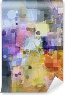 Vinylová Fototapeta Texturou pozadí s kruhy a čtverce