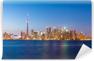 Vinylová Fototapeta Toronto skyline po západu slunce