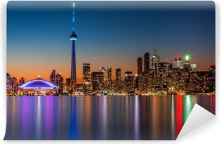 Vinylová Fototapeta Toronto Skyline za soumraku