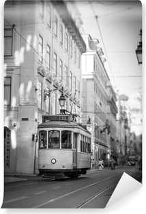 Vinylová Fototapeta Tramvaj v Lisabonu, retro
