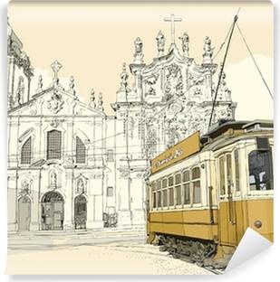 Vinylová Fototapeta Tramway v Porto