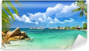 Vinylová Fototapeta Tropický ráj - Seychelské ostrovy