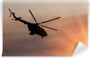 Vinylová Fototapeta Ukrajinská armáda vrtulník v letu