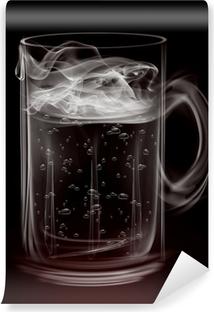 Vinylová Fototapeta Umělecké kouře korbelem piva