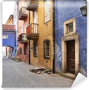 Vinylová Fototapeta Úzké uličky starého města, Varšava