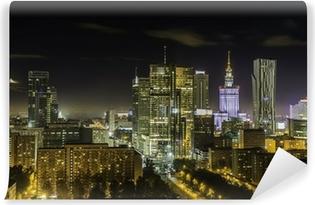 Vinylová Fototapeta V centru města v noci Varšava