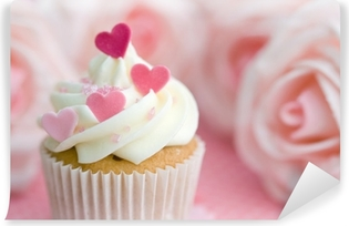 Vinylová Fototapeta Valentine cupcake