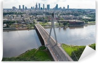 Vinylová Fototapeta Varšava panorama, Świętokrzyski most