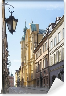 Vinylová Fototapeta Varšava, Staré Město, ulice Piwna, St Marcin kostel