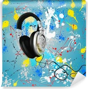 Vinylová fototapeta Vektor abstraktní kompozice sluchátka
