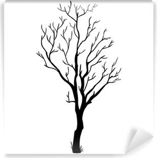 Fototapeta Vetev Rucne Tazene Strom Vzor Vektorove Ilustrace