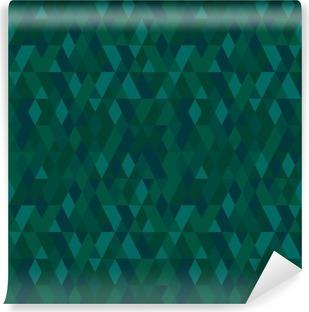 Vinylová Fototapeta Vektorové bezešvé mozaika barvy smaragd. Abstraktní nekonečné pozadí. Používá se pro tapety, vzor výplně, textilní, webové stránky buckground