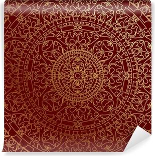 Vinylová Fototapeta Vektorové orientální modré pozadí se zlatým ornamentem