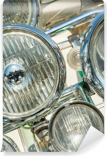 Vinylová Fototapeta Vícenásobná montáž světel na retro motocyklu koloběžka