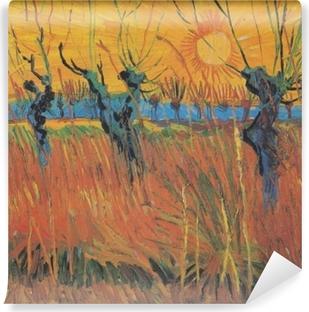 Fototapeta winylowa Vincent van Gogh - Wierzby o zachodzie słońca