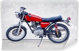 Vinylová Fototapeta Vintage barvy stylu staré klasické motocyklu stojící proti w
