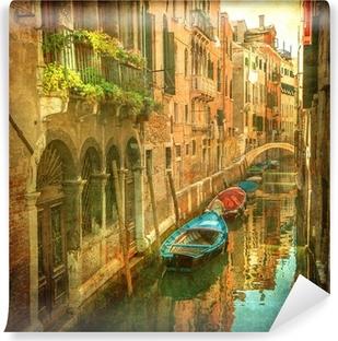 Vinylová fototapeta Vintage obrázek benátské kanály