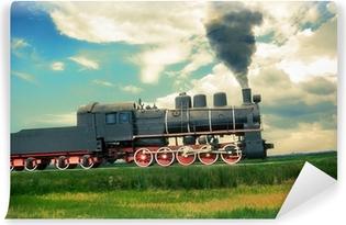Vinylová Fototapeta Vintage parní vlak