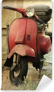 Vinylová Fototapeta Vintage skútr